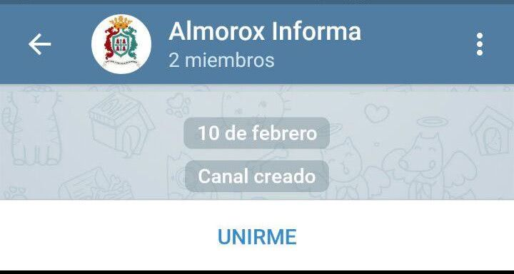 """Almorox Informa, recién nacido, con el botón """"UNIRME"""""""