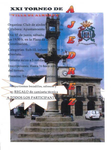 "XXI Torneo de Ajedrez ""Villa de Almorox"""