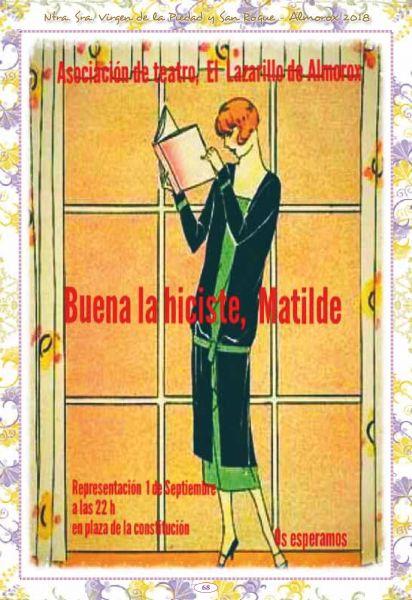 Obra de teatro: Buena la hiciste, Matilde