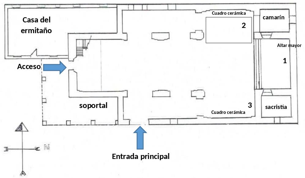 Plano de la Ermita